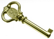 Howard Miller Brass Door Key fits most Floor Clocks made after 1986 & fits most curio/bar cabinets