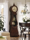 Howard Miller Alluring Deluxe Chiming Grandfather Clock in Tuscany Cherry (Made in USA) - CHM1112