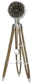 Howard Miller CHM4092 Driftwood Tripod & Bezel Triple Chime Floor Clock