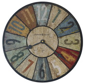 13in Howard Miller Multi-Colored Quartz Wall Clock - CHM4094