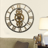 Howard Miller Deluxe 30in Metal Gallery Wall Clock - CHM2116