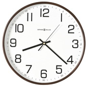 12.5in Howard Miller Quartz Wall Clock With Espresso Finished Bent Deep Wood Frame - CHM4098