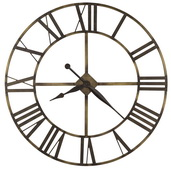 Howard Miller Deluxe 49in Wrought Iron Wall Clock in Antique-Brass Finish - CHM4100