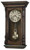 Howard Miller CHM4106 Deluxe Triple Chiming Wooden Wall Clock Acadia Finish