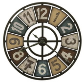 32in Howard Miller Oversized Wrought Iron Wall Clock - CHM4114