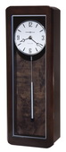 Howard Miller Deluxe Westminster Chiming Wall Clock in High-Gloss Black Coffee Finish - CHM4110