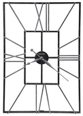 35.5in Howard Miller Deluxe Oversized Rectangular Wrought Iron Wall Clock - CHM4118