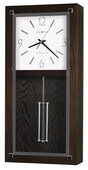 Howard Miller Deluxe Westminster Chiming Wooden Wall Clock in Black Coffee Finish - CHM4122