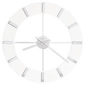30in Howard Miller Contemporary Wall Clock High-Gloss White Finished Ring - CHM4124