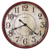 Howard Miller Deluxe 32in Oversized Wall Clock Highly-Distressed Antique Red Finish - CHM4130