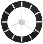30in Howard Miller Contemporary Wall Clock High-Gloss Black Finished - CHM4134