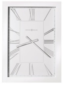 Howard Miller Rectangular Wall Clock Finished in A Hand-Rubbed & High Gloss White - CHM4138