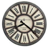 Howard Miller Deluxe 34in Metal Gallery Wall Clock - CHM4342