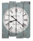 Howard Miller Deluxe 30in Rustic Antique Blue Wall Quartz Wall Clock - CHM4804