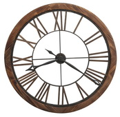 Howard Miller Deluxe 32.25in Oversized Aged Metal Wall Clock - CHM4808