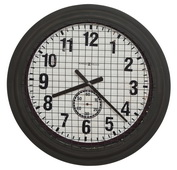 25.75in Oversized Aged Metal Wall Clock - CHM4790