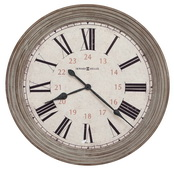 30.75in Oversized Worn Aged Brown Wall Clock - CHM4792