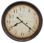 Howard Miller Deluxe 29in Aged Wall Clock - CHM4816