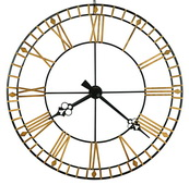 Howard Miller Deluxe 46.5in Oversized Wrought Iron Gallery Wall Clock - CHM4822