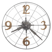 Howard Miller Deluxe 32.25in Oversized Metal Wall Clock - CHM4830