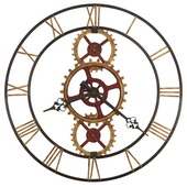Howard Miller 49in Metal Wall Clock - CHM4924