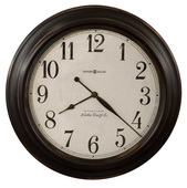 Howard Miller 30in Aged Black Gallery Wall Clock - CHM4930