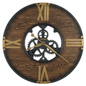 Howard Miller 24in Wrought Iron Wall Clock - CHM4834