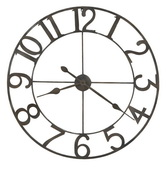 36in Howard Miller Deluxe Wrought Iron Wall Clock - CHM4944