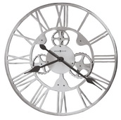 Howard Miller 29.25in Cast Aluminum Wall clock with Decorative Metal Gears - CHM4964
