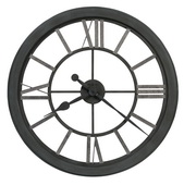 Howard Miller 30in Wrought Iron Wall Clock - CHM4970