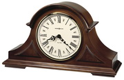 Howard Miller Deluxe Triple Chiming Windsor Cherry Tambour Wooden Quartz Mantel Clock - CHM2092