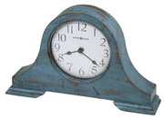 Howard Miller Worn Teal Blue Finish Mantel Clock - CHM4142