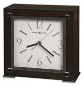 Howard Miller Deluxe Black Coffee Finish Mantel Clock - CHM4150