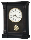 Howard Miller Deluxe Worn Black Red & Brown Undertones Westminster Chime Mantel Clock - CHM4154
