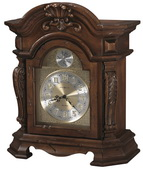 Howard Miller Deluxe Rustic Cherry Finish Triple Chime Mantel Clock - CHM4156
