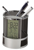 Howard Miller Desk Mate Alarm and Pencil Cup Clock - CHM4048