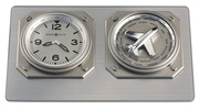 Howard Miller Titanium Finish World-Time Desk Clock 24 World Time Zones - CHM4158