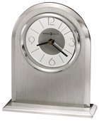Howard Miller Contemporary Brushed & Polished Silver-Finished Arch Tabletop Clock - CHM4166