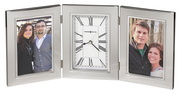 Howard Miller Contemporary Two Photo Frames Tabletop & Desk Clock - CHM4164
