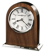 Howard Miller CHM4160 Classic Clock Popular Chrome & Black Finishes Tabletop & Desk Clock