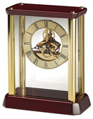 Howard Miller Deluxe Brass-Tone Skeleton Carriage Table Clock - CHM4850