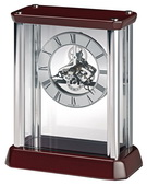 Howard Miller Deluxe Silver-Tone Skeleton Carriage Table Clock - CHM4852