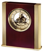 Howard Miller Deluxe Contemporary Brass-Finish Skeleton Table Clock - CHM4854