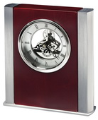 Howard Miller Deluxe Contemporary Silver-Finish Skeleton Table Clock - CHM4856