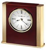 Howard Miller Contemporary Table Clock In Brass   CHM4858