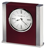 Howard Miller Contemporary Table Clock in Silver - CHM4860