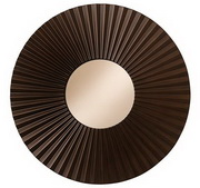 Howard Miller Ribbed Case Mirror in Espresso Finish