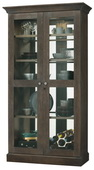 Howard Miller Densmoore Wooden Display Cabinet In Aged Java Finish (Made in USA) - CHM4384
