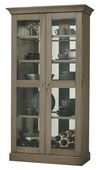 Howard Miller Densmoore II Wooden Display Cabinet In Aged Grey Finish (Made in USA) - CHM4386