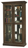 Howard Miller Lennon Deluxe Wooden Display Cabinet In Aged Umber Finish (Made in USA) - CHM4388